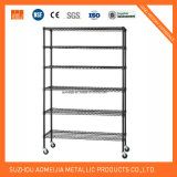 Slanted Wire Shelving Sliding Storage Systems