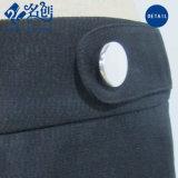 Schwarzer Form Taste Hinter-Reißverschluss lose lange Frauen-Hosen
