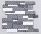 Azulejo de mosaico blanco y negro de la tira para la pared