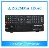 Zgemma H5. Afinadores combinados do ósmio E2 DVB-S2+ATSC Hevc/H. 265 do linux do receptor satélite da C.A. FTA
