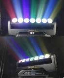 Luz movente mágica do feixe da barra do diodo emissor de luz da cabeça da lâmina 7X15W do pixel do diodo emissor de luz