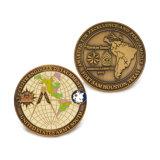 Pieghi su ordinazione li designano modifica religiosa della moneta RFID dell'anello di ritorno della moneta del ricordo del blu marino