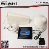 De dubbele Repeater van het Signaal van de Telefoon van de Cel van de Band 900/2100MHz 2g 3G 4G met Antenne