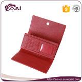 빨간색 여자 지갑 형식 PU 숙녀를 위한 가죽 마술 지갑 카드 홀더
