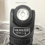 luz principal móvil infinitamente giratoria de la viga de 60W LED