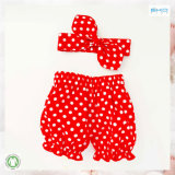 Red Baby Wear Dots Printing Baby Leggings Headband Set