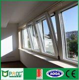 Profil en aluminium de matériaux de construction Tour d'inclinaison de la fenêtre avec le verre trempé