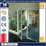 Portes en aluminium modernes à double charnière avec dix ans de garantie