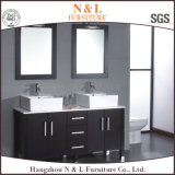 Europäische Art-Badezimmer-Schrank-Holz-Badezimmer-Eitelkeit