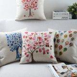 Linho de algodão impresso 18 polegadas Almofadas decorativas para sofá