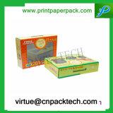 Beauté faite sur commande d'impression de logo empaquetant la boîte-cadeau de papier cosmétique avec du plastique