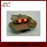 Casque de sécurité Airsoft lumière LED militaire casque 3 intensités de lumière LED bleu