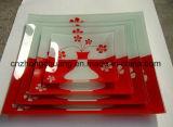 Prato de vidro / Placa / Máquina de impressão de bandeja Impressora a superfície UV com tinta de alta temperatura