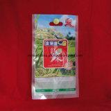 Sac en plastique de riz de conditionnement des aliments d'impression faite sur commande