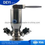 En acier inoxydable AISI316L Cuve de fermentation Tri distributeur d'échantillonnage de serrage