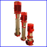 Pompe d'incendie certifiée internationale de pompes à feu verticales multi-étages en acier inoxydable