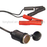 12V Batterie Clip-on Car Cigarette Lighter Socket Adapter