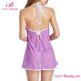 Пурпуровое ретро женское бельё Babydoll он-лайн