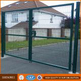 Peint en vert de la sécurité de clôtures en treillis métallique soudé en acier