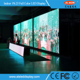 HD P6.25 de interior a todo color de pantalla LED para uso Alquiler