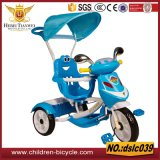 二重か単一の赤ん坊の歩行者Trikeの子供の三輪車2は、トレーラーを持つ子供のための二重三輪車着席する