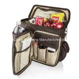 Poliéster Can Cooler Lunch Bag Garrafa Picnic Mochila Isolada