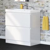unità diritta di vanità della stanza da bagno del pavimento di bianco di 800mm & stanza da bagno moderna del bacino