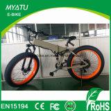 Gebirgsvolle Aufhebung-fettes elektrisches Fahrrad mit Gummireifen 4.0