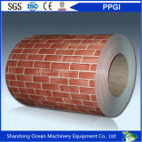 Protection Environmetal bobines en acier galvanisé prélaqué / PPGI Bobines en acier de motif imprimé de bois / / / Camouflage de brique de marbre / Diamant gaufré