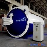 autoclave de estratificação de vidro à prova de balas aprovada de 2650X5000mm Ce/PED (SN-BGF2650)
