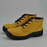 Желтая кожаный Чили предпочитает ботинки безопасности Ufb056 подкладки свиньи кожаный