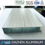 Perfil de aluminio de aluminio popular para los muebles de la cabina de la casa