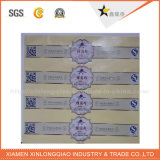 Impresión de etiquetas de código de barras impreso transparente de papel plástico precio Bo. Pegatina