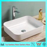 薄い端新しいデザイン陶磁器の浴室の洗面器