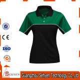 Camisas do polo T do desgaste da ginástica dos esportes do bowling do golfe do verão das mulheres