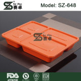 4 격실 Bento Lunch Box & Disposable Safe Plastic Food Container