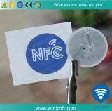 etiqueta engomada de papel barata de encargo de 13.56MHz Ntag216 RFID NFC
