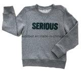 테디 패치 정면을%s 가진 소년을%s 회색 혼합 스웨터