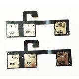 para HTC um M7 Dual cabo do cabo flexível do leitor de entalhe do suporte de cartão de SIM 801e 802t 802D 802W SIM