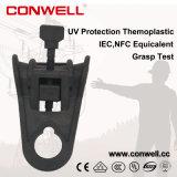 Популярный продукт против УФ антенный кабель из термопластмассы зажим для подвески LV линии
