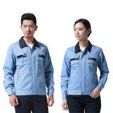 65%Polyesterおよび35%Cottonは青緑の工員のユニフォームをカスタム設計する