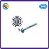DIN/ANSI/BS/JIS Kohlenstoffstahl/aus rostfreiem Stahl 4.8/8.8/10.9 galvanisierte gekerbte Hexagon-Kontaktbuchse mit Gewindeschneidschrauben