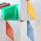 Hojas huecos plásticas heladas del material para techos de los paneles sólidos del policarbonato para el pabellón