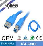 Kabel van de Gegevens USB 3.0 van de Last van Sipu de Tweezijdige Snelle Mini