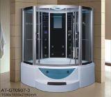 sauna do vapor do setor de 1500mm com Jacuzzi e Tvdvd (AT-GT0907)
