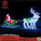 Chritmas 3D 220V Acrylweihnachtsmann Rotwild-Motiv-Licht für Weihnachtsdekoration