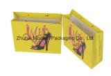 Bolsa de papel de encargo de la impresión en offset de la insignia con la maneta