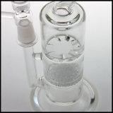 Narguilé en verre de pipe de fumage de l'eau de Hfy de tabac de barboteur de vente en gros de fantaisie grisante en verre de Borosilicate