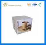 Rectángulo de empaquetado plegable del envío acanalado durable para las tazas (caja de embalaje impresa para los platos)