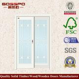 Porta deslizante dianteira de madeira com vidro Tempered (GSP3-036)